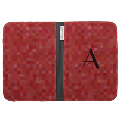 Cuadrados rojos del mosaico del monograma