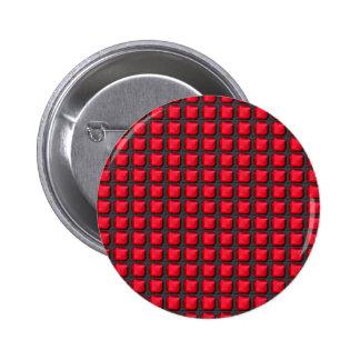 Cuadrados ROJOS INTENSOS de la energía del arte de Pin Redondo De 2 Pulgadas