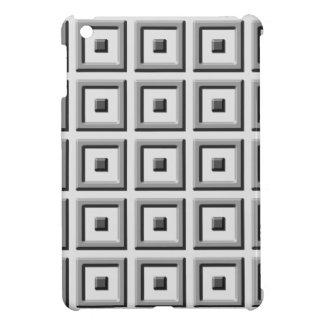 Cuadrados sólidos grises en la caja gris del iPad