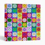 """Cuadrados sonrientes de la cara del arco iris carpeta 1"""""""