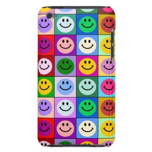 Cuadrados sonrientes de la cara del arco iris Case-Mate iPod touch protectores