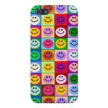 Cuadrados sonrientes de la cara del arco iris iPhone 5 fundas