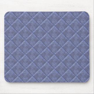 Cuadrados texturizados azul alfombrilla de ratones