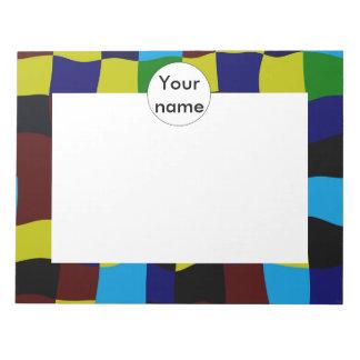 Cuadrados torcidos en colores retros bloc de notas