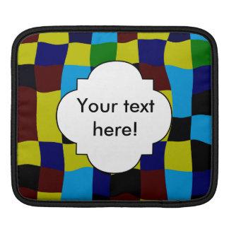 Cuadrados torcidos en colores retros mangas de iPad