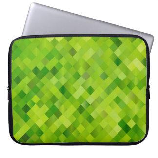 Cuadrados verdes fundas ordendadores