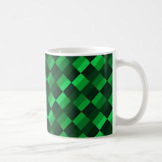 Cuadrados verdes taza