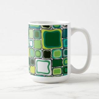 Cuadrados verdes taza clásica