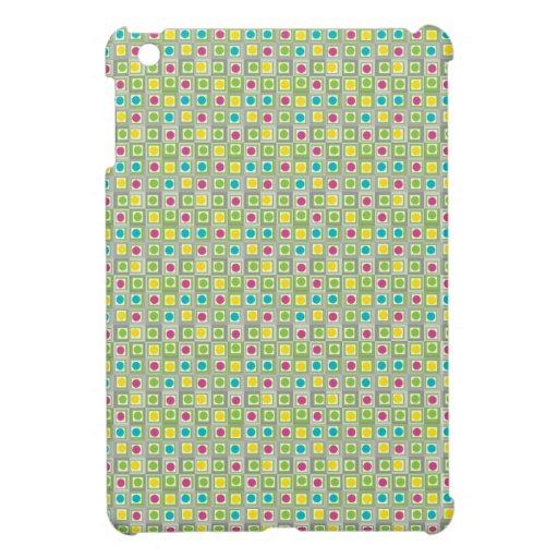 Cuadrados y círculos lindos iPad mini cárcasas