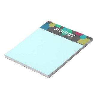 Cuadrados y libreta abstractos de los puntos bloc de papel
