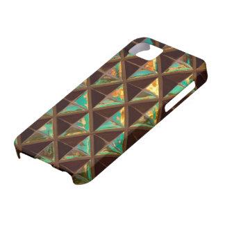 Cuadrados y triángulos iPhone 5 carcasa