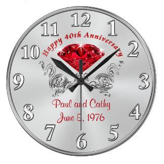 Cuadragésimo reloj DE RUBÍES personalizado del