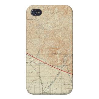 Cuadrilátero de Redlands que muestra la grieta de  iPhone 4 Cárcasa