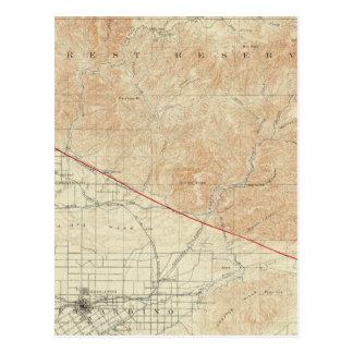 Cuadrilátero de Redlands que muestra la grieta de Postal