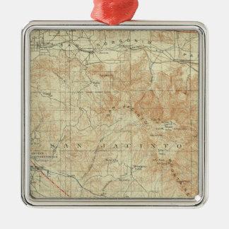 Cuadrilátero de San Jacinto que muestra la grieta Adorno Navideño Cuadrado De Metal