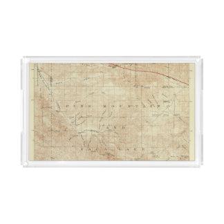 Cuadrilátero del Mt Pinos que muestra la grieta de Bandeja Rectangular