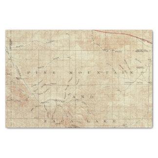 Cuadrilátero del Mt Pinos que muestra la grieta de Papel De Seda Pequeño