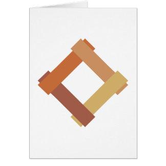 Cuadrilátero square tarjeta