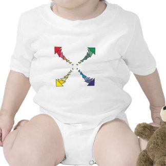 Cuadrilátero triángulos square triangles trajes de bebé