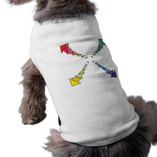 Cuadrilátero triángulos square triangles tshirt de perro