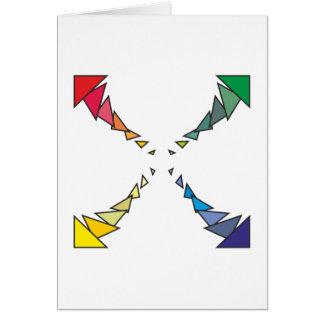 Cuadrilátero triángulos square triangles felicitacion