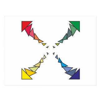 Cuadrilátero triángulos square triangles postales