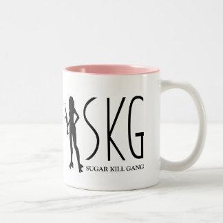 Cuadrilla de la matanza del azúcar taza de café de dos colores