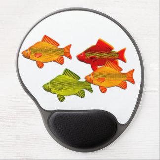 Cuadrilla de pescados de arco iris alfombrillas de ratón con gel