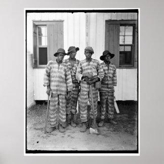 Cuadrilla de presos meridional 1900-1906 póster