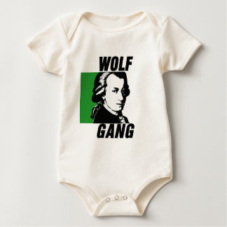 Cuadrilla del lobo mamelucos de bebé