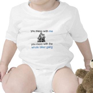 Cuadrilla del motorista trajes de bebé