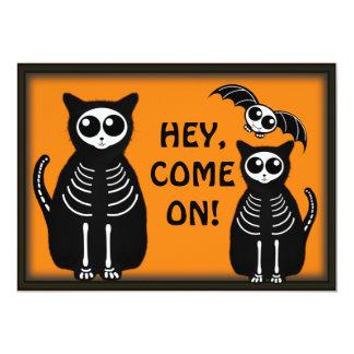 Cuadrilla esquelética de los animales de Halloween Comunicados Personalizados