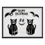 Cuadrilla esquelética de los animales de Halloween Impresiones