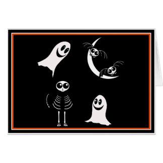 Cuadrilla esquelética de los animales de Halloween Tarjeta De Felicitación