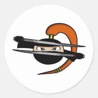 Cuadro 1 de Ninja del jengibre Etiqueta Redonda