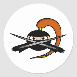 Cuadro 2 de Ninja del jengibre Etiqueta Redonda