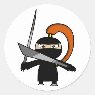 Cuadro 3 de Ninja del jengibre Etiqueta Redonda