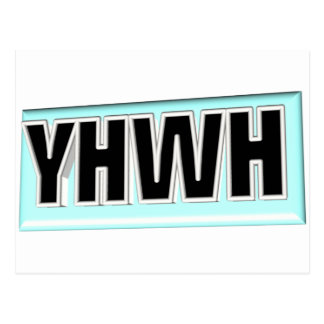 Cuadro 3D de YHWH Postal
