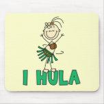 Cuadro camisetas y regalos del palillo de I Hula Tapetes De Ratón