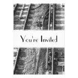 Cuadro de las pistas de ferrocarril invitación personalizada