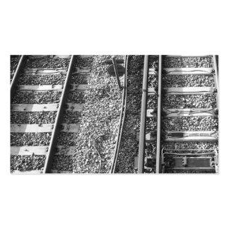 Cuadro de las pistas de ferrocarril plantilla de tarjeta de negocio