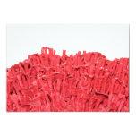 Cuadro del coral rojo invitación 12,7 x 17,8 cm