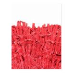 Cuadro del coral rojo postal