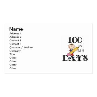 Cuadro del palillo 100 días tarjetas de visita