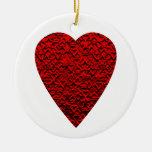 Cuadro rojo brillante del corazón ornamentos de reyes