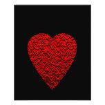 Cuadro rojo brillante del corazón flyer a todo color