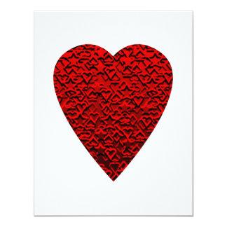 Cuadro rojo brillante del corazón