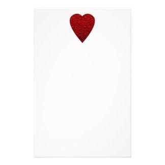 Cuadro rojo brillante del corazón  papeleria