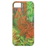 Cuadro tropical de los pájaros iPhone 5 Case-Mate fundas