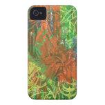 Cuadro tropical de los pájaros iPhone 4 cobertura